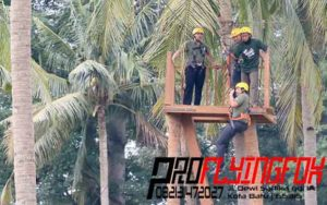 082131472027 , Flying Fox Outbound Jawa Timur , Flying Fox Outbound Jepara , Flyingfox di Kelapa Park Jepara (2)